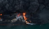 Cargo ship sinks off Sri Lanka after weeks on fire