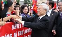 Hình ảnh Tổng Bí thư Nguyễn Phú Trọng đến Washington DC, Hoa Kỳ