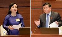 Quốc hội tiếp tục phiên chất vấn và trả lời chất vấn tại hội trường