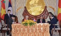 VOV ký kết thỏa thuận Đầu tư đổi mới thiết bị cho Đài phát thanh Lào