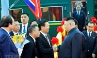 Những hình ảnh Chủ tịch Triều Tiên Kim Jong-un đến Việt Nam