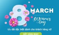 Ngày Quốc tế phụ nữ 8/3 trong thời dịch - quà tặng online lên ngôi