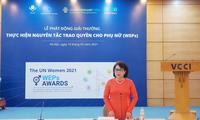 Phát động Giải thưởng thực hiện nguyên tắc trao quyền cho phụ nữ năm 2021