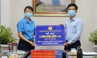 Tổng Liên đoàn Lao động Việt Nam chi trên 113 tỷ đồng hỗ trợ người lao động bị ảnh hưởng trong đợt dịch thứ 4
