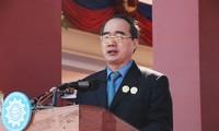 Gặp gỡ Chủ tịch Mặt trận 3 nước Campuchia-Việt Nam-Lào