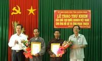 Quảng Ngãi: Trao Thư khen của Chủ tịch nước cho 2 người dân dũng cảm
