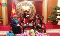 Phó Chủ tịch Quốc hội Tòng Thị Phóng tiếp Trưởng đại diện Unicef tại Việt Nam