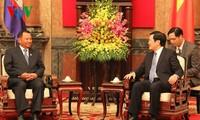 Lãnh đạo Đảng, Nhà nước tiếp Chủ tịch Thượng viện Campuchia Samdech Say Chhum