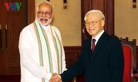 Tổng Bí thư Nguyễn Phú Trọng, Chủ tịch nước Trần Đại Quang tiếp Thủ tướng CH Ấn Độ Narendra Modi