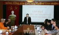 Ban Tôn giáo Chính phủ gặp mặt các chức sắc tôn giáo là đại biểu Quốc hội khóa XIV