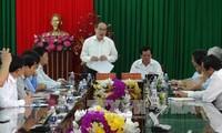 Chủ tịch Ủy ban Trung ương MTTQ Việt Nam Nguyễn Thiện Nhân làm việc tại tỉnh Trà Vinh