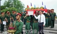 Truy điệu, an táng hài cốt liệt sỹ Việt Nam tại Lào và Campuchia