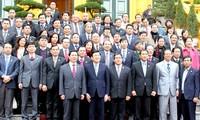 ประธานประเทศพบปะกับนักธุรกิจที่ได้รับรางวัลเครื่องหมายการค้าระดับชาติปี ๒๐๑๒