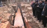 การค้นพบโบราณถานที่มีค่าในบริเวณกำแพงพระราชวังหว่างแถ่งทังลอง