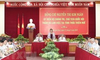 NA leader works with Thua Thien Hue provincial leaders