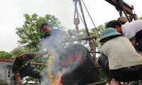 300-kg bronze drum made to mark national elections