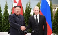 Leaders of North Korea and Russia exchange messages on Korea's liberation day