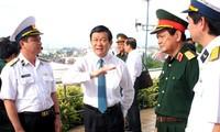 ประธานประเทศเวียดนามTrương Tấn SangเยือนบริษัทTân Cảng Sài Gòn