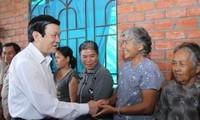 ประธานประเทศเวียดนามTrương Tấn Sang ลงพื้นที่จังหวัดBến Tre