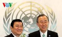 ประธานประเทศเจืองเติ้นซางพบปะกับเลขาธิการใหญ่สหประชาชาติ