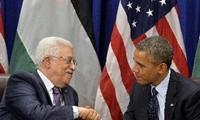 สหรัฐและปาเลสไตน์ให้คำมั่นสนับสนุนกระบวนการสันติภาพในตะวันออกกลาง