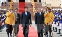 ท่านเจืองเติ๊นซางประธานประเทศเวียดนามเดินทางไปเยือนประเทศกัมพูชาอย่างเป็นทางการ
