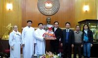 ตัวแทนศาสนาต่างๆอวยพรตรุษเต๊ตคณะกรรมการแนวร่วมปิตุภูมิส่วนกลางเวียดนาม