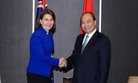 Thủ tướng Nguyễn Xuân Phúc tiếp các Lãnh đạo bang New South Wales, Australia