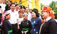 Phó Chủ tịch nước Đặng Thị Ngọc Thịnh tiếp Đoàn đại biểu tiêu biểu tỉnh Lào Cai