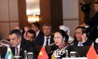 Chủ tịch Quốc hội Nguyễn Thị Kim Ngân phát biểu tại Phiên họp toàn thể thứ nhất Hội nghị Chủ tịch Quốc hội các nước Á Âu lần thứ ba