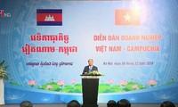 Thủ tướng Việt Nam và Campuchia dự Diễn đàn doanh nghiệp hai nước