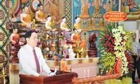 Chủ tịch Ủy ban Trung ương MTTQ Việt Nam Trần Thanh Mẫn chúc Tết Chôl Chnăm Thmây tại Sóc Trăng