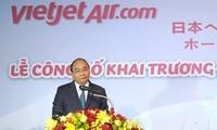 Thủ tướng dự lễ công bố hai đường bay mới tới Nhật Bản