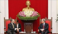 Trưởng ban Kinh tế Trung ương Nguyễn Văn Bình tiếp Đoàn công tác Bộ Tài chính Hoa Kỳ Michell Silk