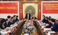 Phó Thủ tướng Thường trực Chính phủ Trương Hòa Bình làm việc với lãnh đạo tỉnh Thanh Hóa
