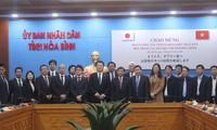 Đoàn công tác tỉnh Yamanashi (Nhật Bản) thăm và làm việc tại Hòa Bình