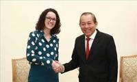 Phó Thủ tướng Trương Hòa Bình tiếp Bộ trưởng Khoa học và Nghệ thuật bang Hessen (Đức)