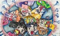 """Cuộc thi vẽ tranh """"Ngày hội sắc màu"""": Tạo nguồn cảm hứng cho thiếu niên, nhi đồng về phòng, chống dịch COVID-19"""