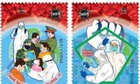 """Phát hành bộ tem """"Chung tay phòng, chống dịch Covid-19"""" của Họa sỹ Phạm Trung Hà"""