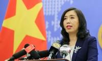 Việt Nam phản đối các hành vi vi phạm luật pháp quốc tế của Trung Quốc ở Biển Đông