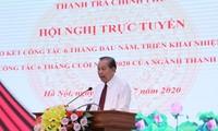 Phó Thủ tướng Trương Hòa Bình dự Hội nghị trực tuyến sơ kết công tác thanh tra