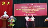 Bộ Y tế công nhận Hội đồng Trường và Chủ tịch Hội đồng Trường Đại học Y dược Hải Phòng