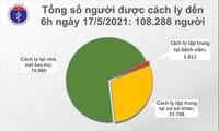 Sáng 17/5, Việt Nam ghi nhận 37 ca mắc COVID-19