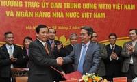 ЦК Отечественного Фронта  и Госбанк Вьетнама координируют действия друг с другом
