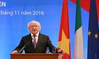 Президент Ирландии прибыл с визитом в город Хошимин