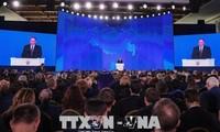 Владимир Путин в 14-й раз выступил с ежегодным посланием к Федеральному собранию