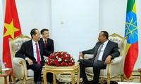 Президент Вьетнама Чан Дай Куанг провёл встречу с премьером Эфиопии Абием Ахмедом