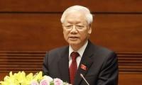 Генсек ЦК КПВ, президент Вьетнама поздравил Национальный совет Французской коммунистической партии
