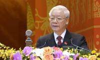 Нгуен Фу Чонг продолжает получать поздравительные телеграммы в связи с переизбранием на пост генсека ЦК КПВ