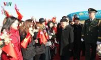 阮富仲抵达北京开始对中国进行正式访问